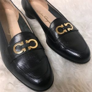 Salvatore Ferragamo Black Flats/Loafers
